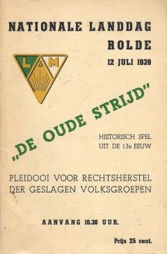 Nationale Landdag Rolde 12 Juli 1939