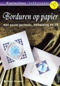 Borduren op papier met passe-partouts, embossing en 3D