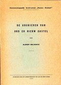 """Gemeenschappelijk Archivariaat """"Nassau - Brabant"""" De Archieven van Oud en Nieuw Gastel"""