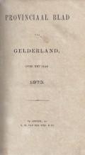Provinciaal blad van Gelderland over het jaar 1873
