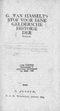 G. van Hasselt's stof voor eene Geldersche Historie der Heidenen