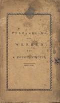 Verzameling der Werken van A. Fokke, Simonsz. Elfde deel